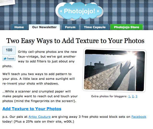 Photojojo Tutorial: Working with Texture