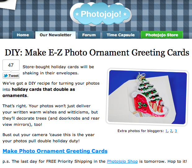 Photojojo Tutorial: Easy Greeting Card Ornaments