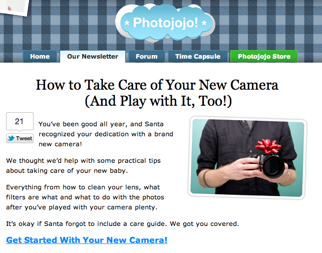 Photojojo Tutorial: Use Your New Camera!
