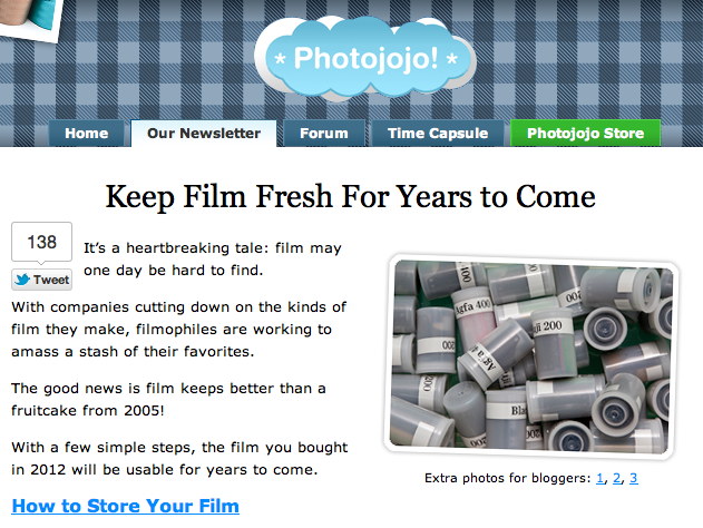 Photojojo Tutorial: Keep Film Fresh for Years to Come