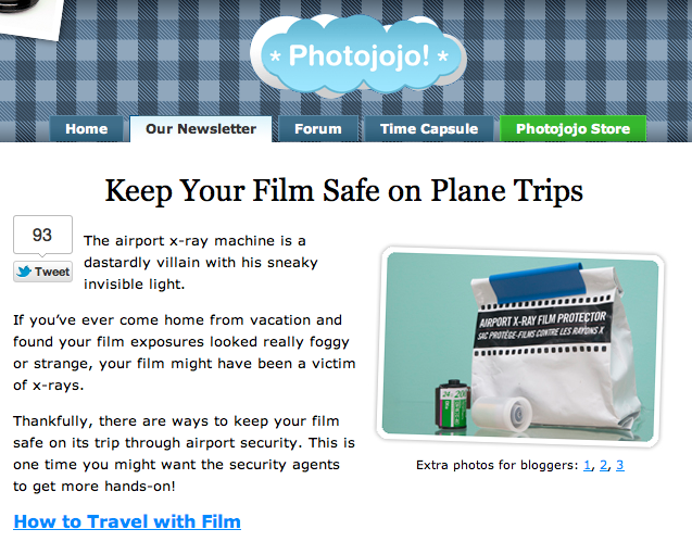 Photojojo Tutorial: Keep Your Film Safe on Plane Trips