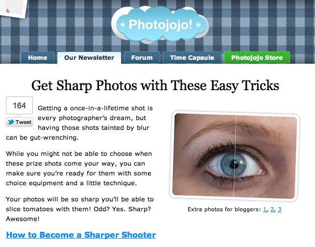 Photojojo: Get Sharp Photos