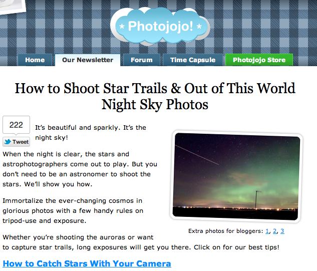 Photojojo Tutorial: Night Sky